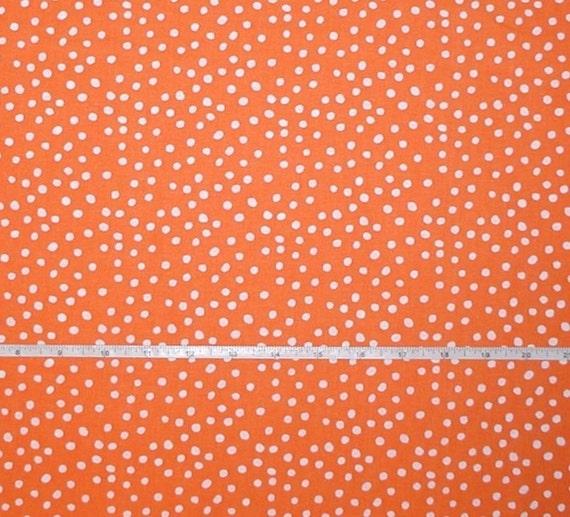 orange white fabric polka dot dots cotton quilting 2 yards 44. Black Bedroom Furniture Sets. Home Design Ideas