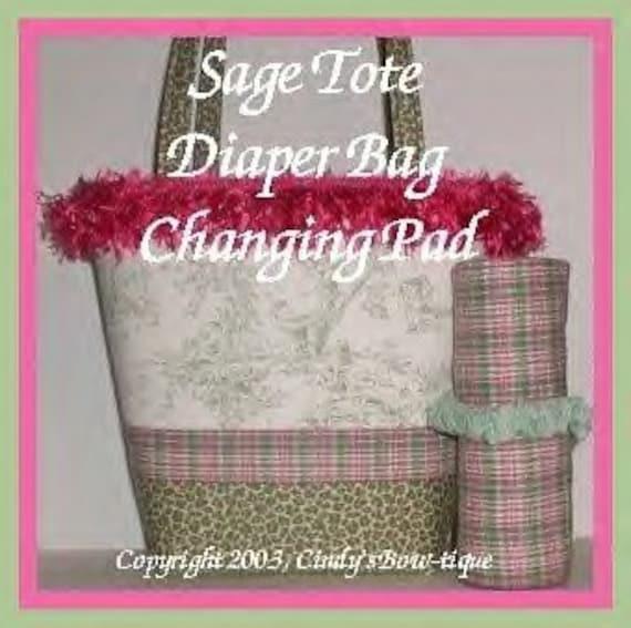 sage diaper bag tote central park leopard baby changing pad. Black Bedroom Furniture Sets. Home Design Ideas