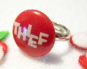 Retro Red 'Thief' Ring