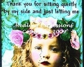 FEEL MY TEARS altered art therapy recovery grief collage AtC ACeO PRiNT