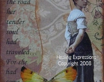 COME SO FAR altered art collage therapy recovery aceo atc print