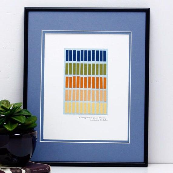 Original Collage plus Letterpress Print, Pattern Forms  (no 37) -- 8x10 -- ON SALE