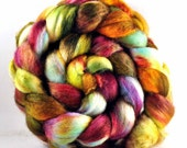 MISS MARPLE 75/25  Blue-Faced Leicester/silk roving 4 oz Free u.s. Shipping