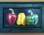 Still Life with Three Peppers (framed)