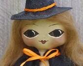 Witch Doll Primitive Halloween Folk Art Spring Sale Code SPRING20