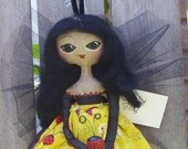 Lady Bug Doll Primitive Folk Art