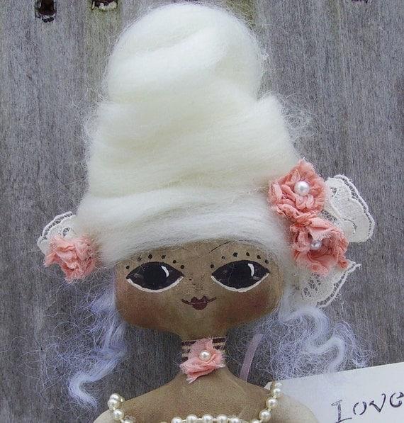 Marie Antoinette Doll Primitive Folk Art