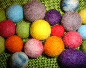 Lot of 10 hand felted beads