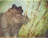 Gladys the Gleeful Rhinoceros-- 8x10 print