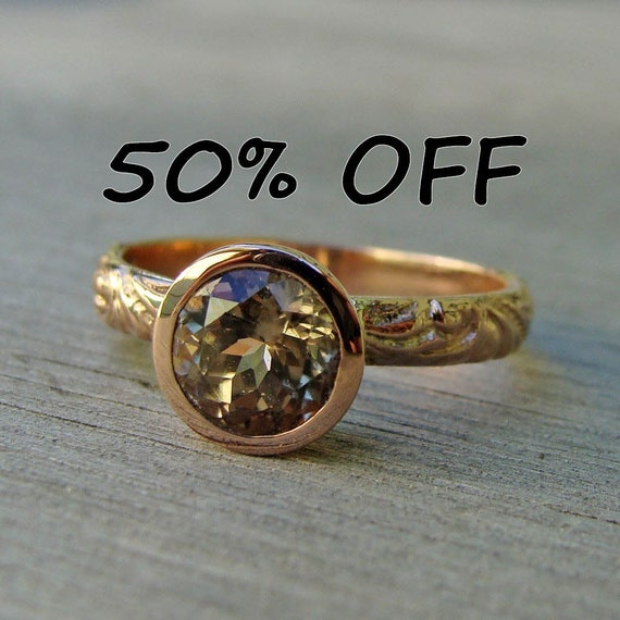 CLEARANCE - Fair Trade Zultanite and Recycled 14k Rose Gold Ring, size 7.5