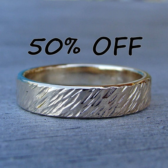 CLEARANCE - Wheat Ring, Recycled 14k Yellow Gold, size 10.75