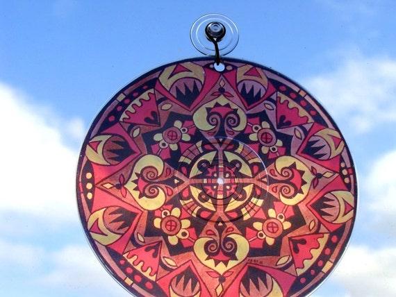 Dracula  -  Mandala Suncatcher made from upcycled cd