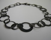 oxidized circles necklace