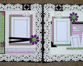 A Sister is a Gift. . . .  12 x 12 Premade Scrapbook Pages