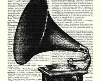 Phonograph 1911 vintage dictionary art print book page collageBuy 3 get  another 1 freeprint print