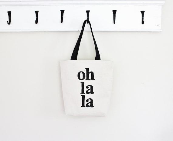 Oh La La Purse Tote Bag Handpainted