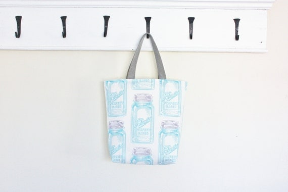 Mason Jar Tote Bag Purse