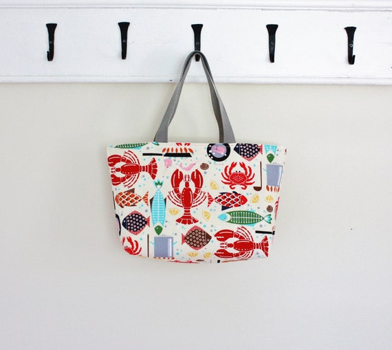 Seafood Feast Purse Tote