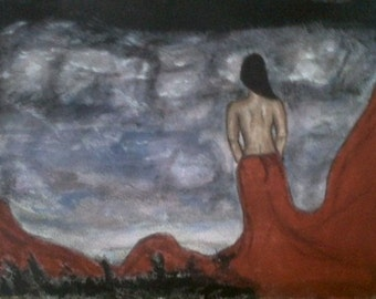 Where, Original Painting, Art, Water color, Acrylic Painting, Surreal