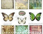 butterflies and backgrounds digital collage sheet instant download wings butterflies printable hang tag butterfly gift tags