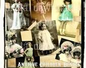 SuPeR 7 BuNDLe PaCK CHiLDReN FaiRy Photographs Download Digital Collage Sheet Vintage girls printable scrapbooking paper craft supplies B1