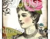 LaDy BiRDs hang tags victorian images vintage original digital collage sheet download handmade greeting card making supplies