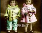 Vintage Printable Download Collage Sheet instant download and print Circus Clowns Children Vintage Photograph