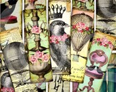 WHiMSY BooKMaRKs Digital Collage sheet printable vintage download