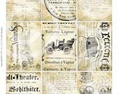 TaTTeRed old vintage paper DiGiTaL Collage SHeeT scrapbooking elements atc background antique designs labels