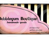 PINK BuBBLeGuM BouTiQUe printable personalized business cards DIGITAL CoLLaGe SHEET eTSy SHoP diy CuSToM PRoDuCT LaBeLs hang tags