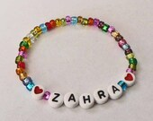 Colorful Shiny Rainbow Children's Personalized Name Bracelet ID Jewelry Party Favors Infant Baby Child Kid Adult Sizes Easter Basket Filler
