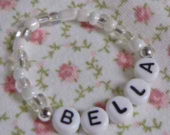 Name Bracelet Children's Personalized Jewelry Bracelet Infant Baby or Toddler Stocking Stuffer