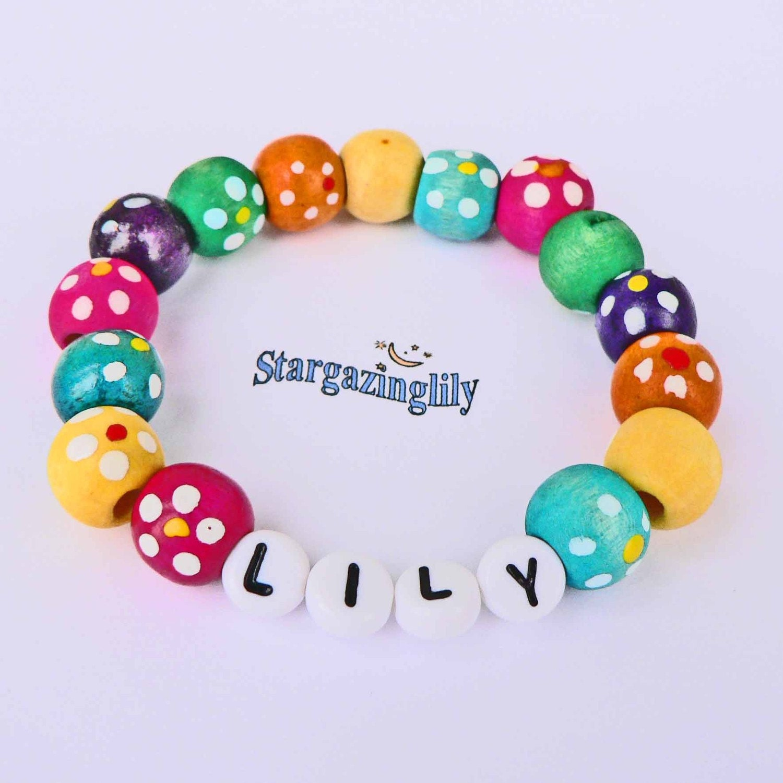Childrens Charm Bracelet: Children's Name Bracelets PERSONALIZED Jewelry Party Favor