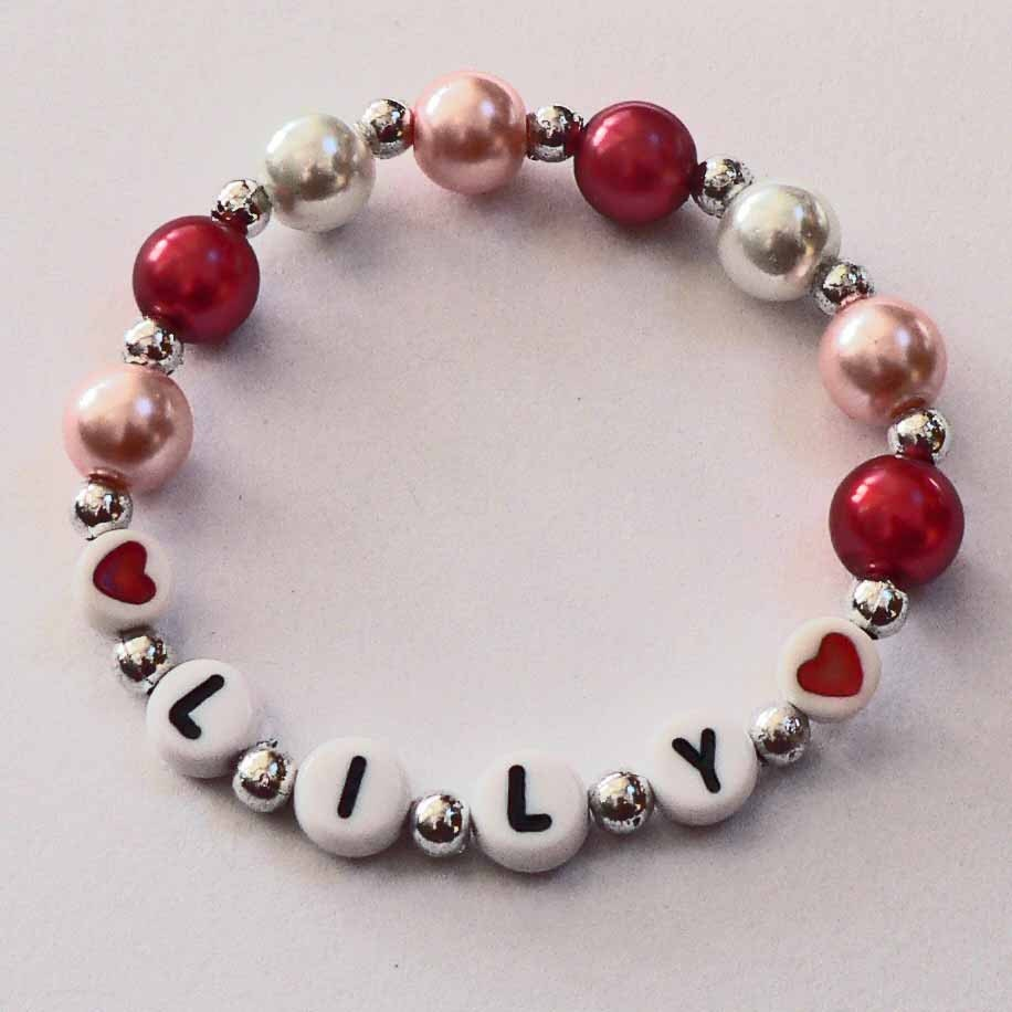 Personalized Valentine Children s Jewelry Name Bracelet