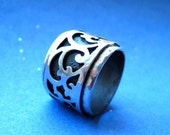 Sterling Silver Japanese Style Scrollwork Wedding Ring