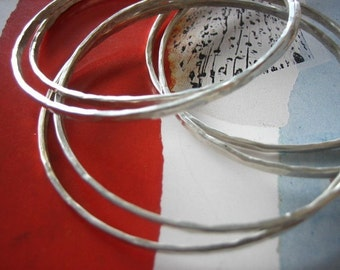 Hammered Bangles Set of Six