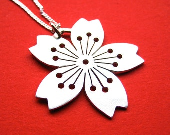 Sterling Silver Sakura Pendant No. 3