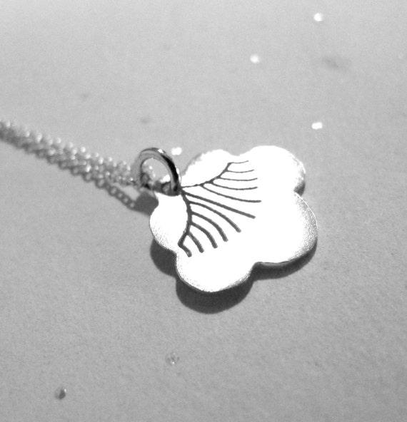 Sterling Silver Tiny Botan Blossom Pendant