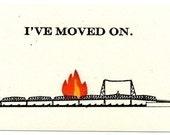 Burning Bridge Postcard