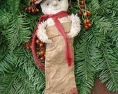 Primitive Snow In My Stocking Ornie Instant Download EPattern