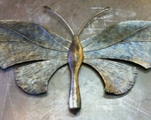 """Large metal butterfly sculpture - 48"""""""