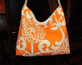 Orange and White Slouch Bag