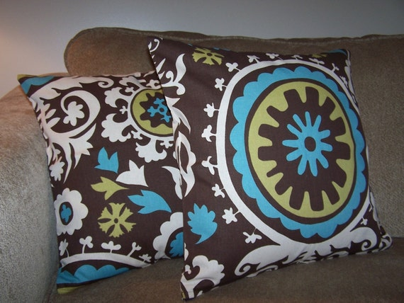 Two Suzani 18 X 18 PILLOW COVER