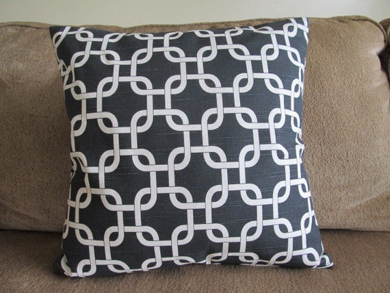 Free US Shipping-New One Black and White Designer 18X18 Pillow Cover Zipper closures