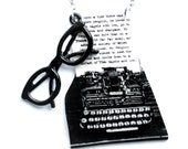 Necklace - Typewriter and Glasses - The Writer