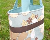 SALE Retro Goodness Diaper Bag Tote Purse HandBag - Love this Flower Power Fabric