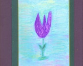 Purple Tulip Note Card - Artist with Autism