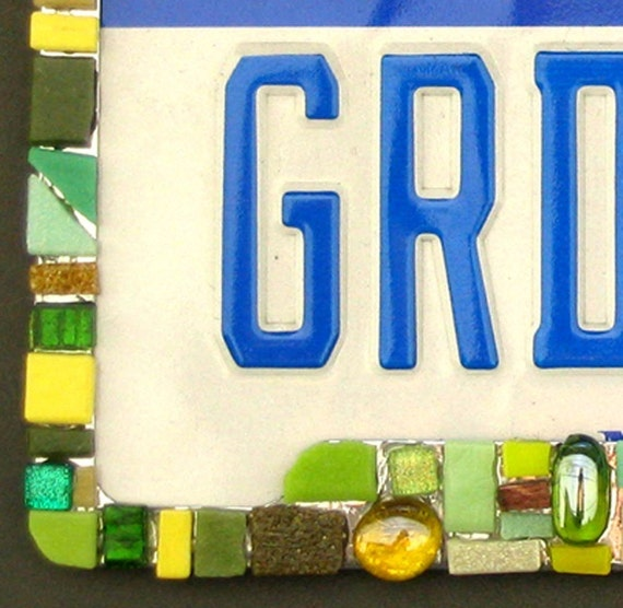 Mosaic Tile License Plate Frame, You choose the color theme