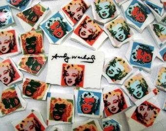 Mosaic Tiles Andy Warhol Marilyn Monroe Plate Art Deco