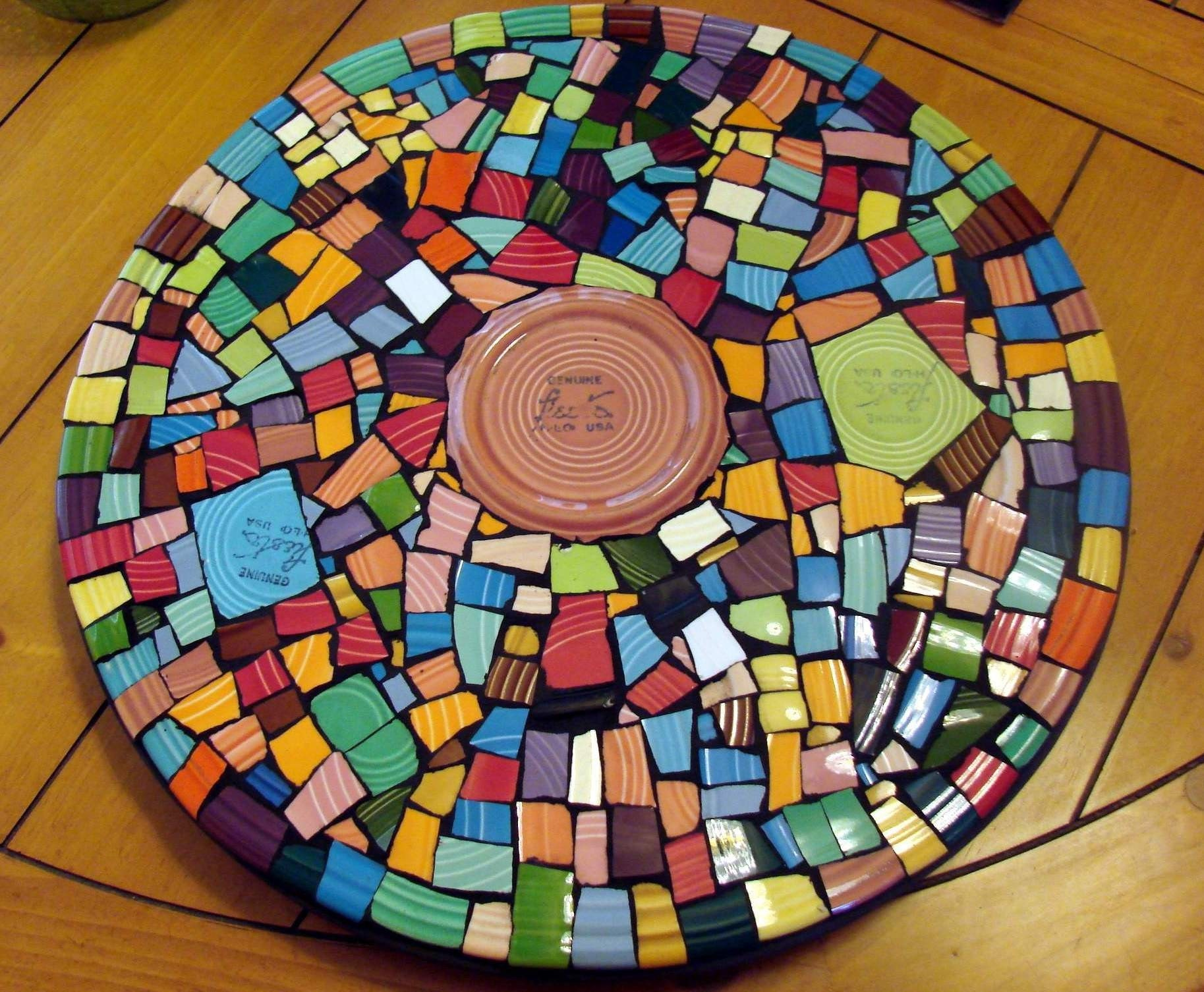 Fiesta Ware Mosaic Art Colorful Lazy Susan Spinner Cocomo